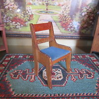 Antique Victorian DOLLHOUSE CHAIR Miniature Wooden Wood 1800s Furniture GERMANY