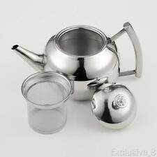 Bollitore per tè e caffè teiera acciaio inox 1.5L bollitore per infusori foglia