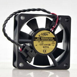 ADDA AD0624UB-A70GL 24V 0.16A 6cm 6025 Double Ball Automation Inverter Fan