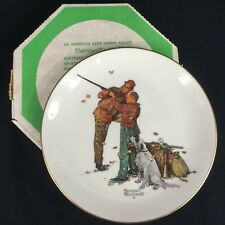 Vintage Norman Rockwell Four Seasons Collectible Fall-Careful Aim Plate Gorham