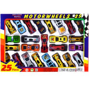 25pc Die Cast Metal Kids Cars F1 Racing Vehicle Children Play Toy Xmas Gift Set