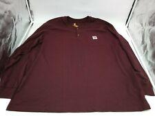 Size Xl Carhartt Men's Long Sleeve Shirt Crew Neck Workwear Originial Fit