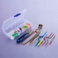 Knitting Accessories Tools Crochet Needle Hook Supplies With Case Box Knit Kit