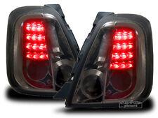 Für Fiat 500 LED Rückleuchten Schwarz-Smoke-Rauch Glas ab Bj.2007-2016 Europaw.z