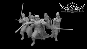 Authority red knights (5) - Star Wars Legion Scale/Roleplay resin miniatures BR