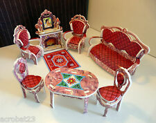 Furniture for Dolls LIVING ROOM Dollhouse Miniature 1:12 Model Kit Set 3D Puzzle