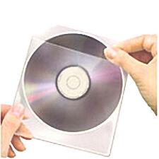 conf.100 buste Bustine custodia trasparente CD/DVD con lembo aletta di chiusura