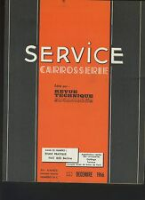 (32A)REVUE TECHNIQUE AUTOMOBILE SERVICE CARROSSERIE FIAT 850 BERLINE
