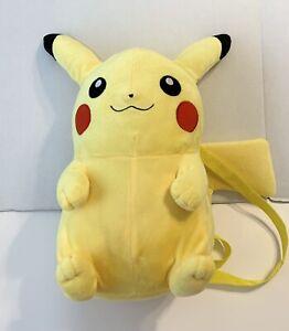 Pokemon Pikachu Plush Backpack Large Stuffed Toy Bag
