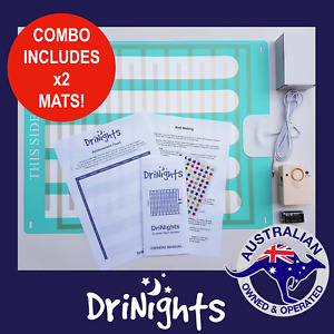 DriNights Bed Wetting Alarm with 2x LARGE MATS Bedwetting Mattress Urine Sensor