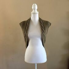NWOT ANTHROPOLOGIE MOTH CABLE KNIT SWEATER VEST ALPACA & WOOL BLEND~OLIVE GREEN