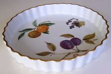 Royal Worcester-Evesham Pattern quiche/Flan Piatto *