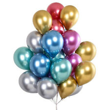 25/50Pcs Chrome Party Balloons 12in Latex Helium Shiny Metallic Balloon Wedding