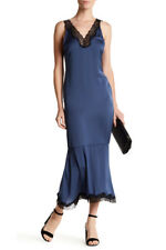 """Sexy """"Silky"""" Lace Trim Maxi Slip Dress from Nordstrom Cocktail Party Fun NEW  S"""