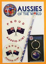 PROUD AUSSIE - KIWI GIFT AUSTRALIAN KEYRING MAGNET STICKER NEW ZEALAND SOUVENIR
