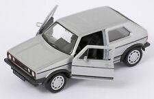 BLITZ VERSAND VW GOLF 1 GTI silber / silver Welly Modell Auto 1:34 NEU & OVP