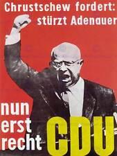 Propaganda politica Krusciov rovesciare Adenauer Germania Poster Stampa bb2582b