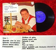 25cm LP Willy Alberti San Remo Song Festival 1960