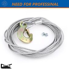 TAIWAN MADE HAND WINCH STEEL CABLE ROPE WIRE REPLACEMENT 6mmX9m 2000KG 10012