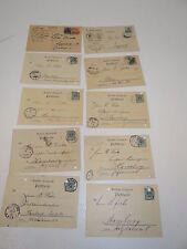 10 Postkarten Deutsche Reichspost von 1898 bis 1920 gelaufen K14