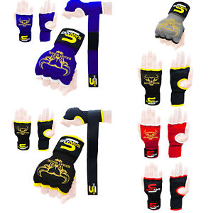 MMA Boxing Gloves Inner Hand Wraps Punch Bags Padded Martial Arts Kick Protector