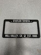 """Statler Toyota License Plate Frame """"Back To The Future Toyota Pickup"""""""
