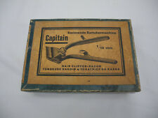 ancienne tondeuse manuelle cheveux Capitain old manual hair clipper maschine