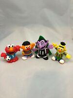 "Hasbro 2011 Sesame Street Workshop Elmo Ernie Bert Count 3"" Plastic Toy Figures"
