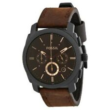 FOSSIL FS4656 Mens Chronograph Watch Machine Brown Leather Belt Japan Tracking