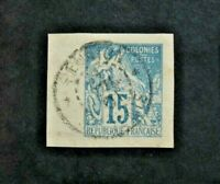 Stamp Colonies French Yvert and Tellier N°51 Obl Cancelled (Cyn35)