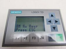 SIEMENS LOGO! 6ED1055-4MH00-0BA0 TD TEXT DISPLAY XLNT USED TAKEOUT MAKE OFFER!!