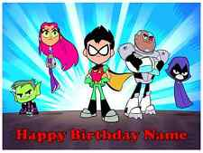 EDIBLE CAKE TOPPER TEEN TITANS ICING IMAGE SUGAR PHOTO SHEET PARTY DECORATION
