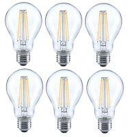 6er trendlights LED LED-Lampe A60 6W-60W 806lm E27 2700k Birne Glas klar EEK A++