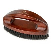 FootFitter Handled Executive Shoe Shine Brush- Horsehair Shoe Polishing Brush