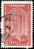 1938 Used Canada F-VF 10c KELOWNA, BC Scott #241 Pictorial Issue Stamp