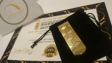 24Ct Gold Plated 3D Pattern Money Clip Cash Note Card Holder Gift Bag 24k Xmas