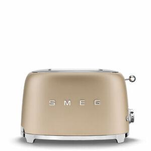 SMEG TOSTAPANE 2 fette TSF01 Nero opaco / Oro opaco / bianco opaco