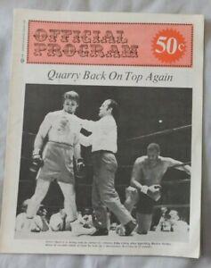 1960's Boxing Program Raul Rojas vs Roberto Nunes Jerry Quarry