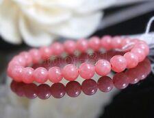 8mm Natural Pink Rhodochrosite Round Gemstone Beads Stretchy Bracelet 7.5'' AAA