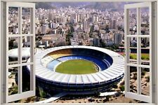 Cheap 3D Window view World Cup Football 2014 Maracana Brazil Wall Sticker 613