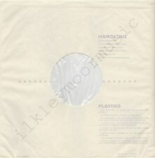 """Vintage INNER SLEEVE or SLEEVES 12"""" HANDLING and PLAYING poly-lined v5 x 2"""