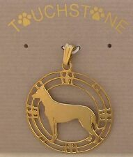 Beauceron Jewelry Gold Pendant by Touchstone