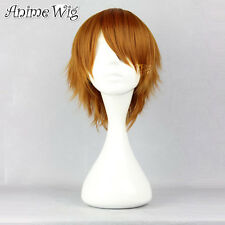 Wavy Brown Short Costume Show cosplay Wig Wig Halloween 30cm hair