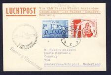 46731) KLM FF Amsterdam - Conakry 5.11.60, Karte ab Belgien