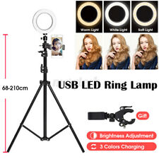 Ring Light Stand Tripod Mini LED Camera Light With Cell Phone Holder Lamp 3  L