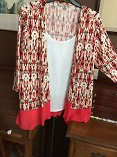Blouse with attached poly jacket--2X-poly--Lovely colors-