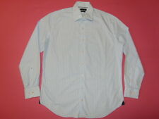Tommy Hilfiger Hemd langarm Gr. L Gr.43 weiß-blau Karo Optik