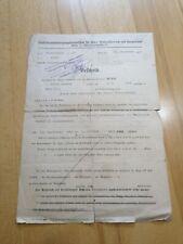 Bescheid Invalidenfürsorge 1932