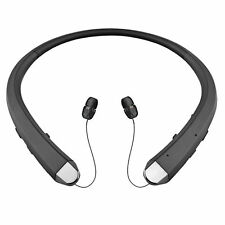 Bluetooth Wireless Stereo Headset Retractable Headphone For iPhone Android Black
