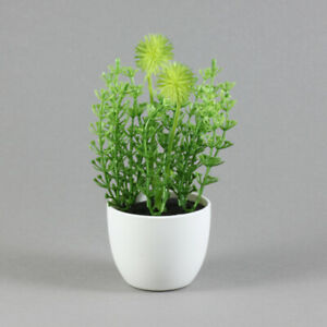 IKEA FEJKA künstliche Topfpflanze drinnen draußen Gras grün weiß 6 cm | NEU